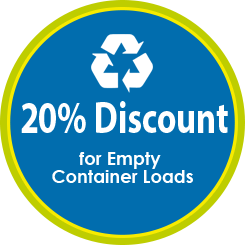 Coupon 2-20% Discount for Empty Container Loads