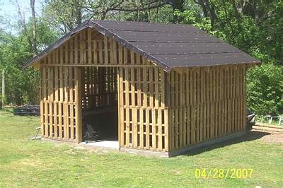 Shed with Complete Roof